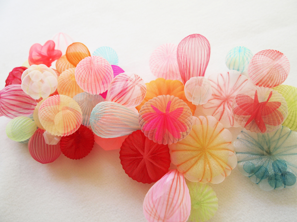 Mariko Kusumoto fabric orbs