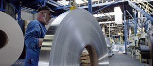 Aluminum coils awaiting final production