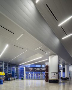 Smoothie King Center in New Orleans features 300C Linear Plank & Gladius Ceiling Panels
