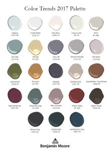 Benjamin Moore's 2017 color trends, including top pick 'Shadow,' Courtesy of Benjamin Moore