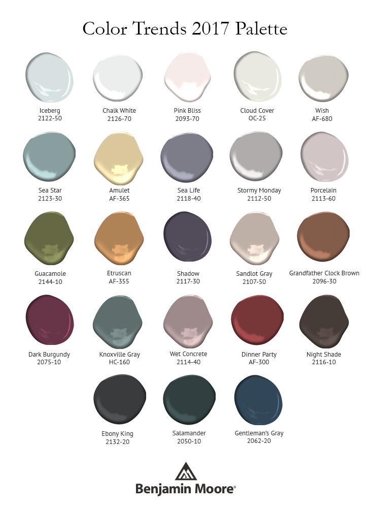 Benjamin Mooreu0027s 2017 Color Trends, Including Top Pick U0027Shadow,u0027 Courtesy  Of Benjamin Moore