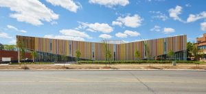 NBK terra-cotta façades bring style & sustainability to Albion Library. Photos by Lisa Logan Photography.