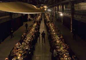 Inside the 65,000-sq.-ft. industrial space, architects, designers and engineers mingled.