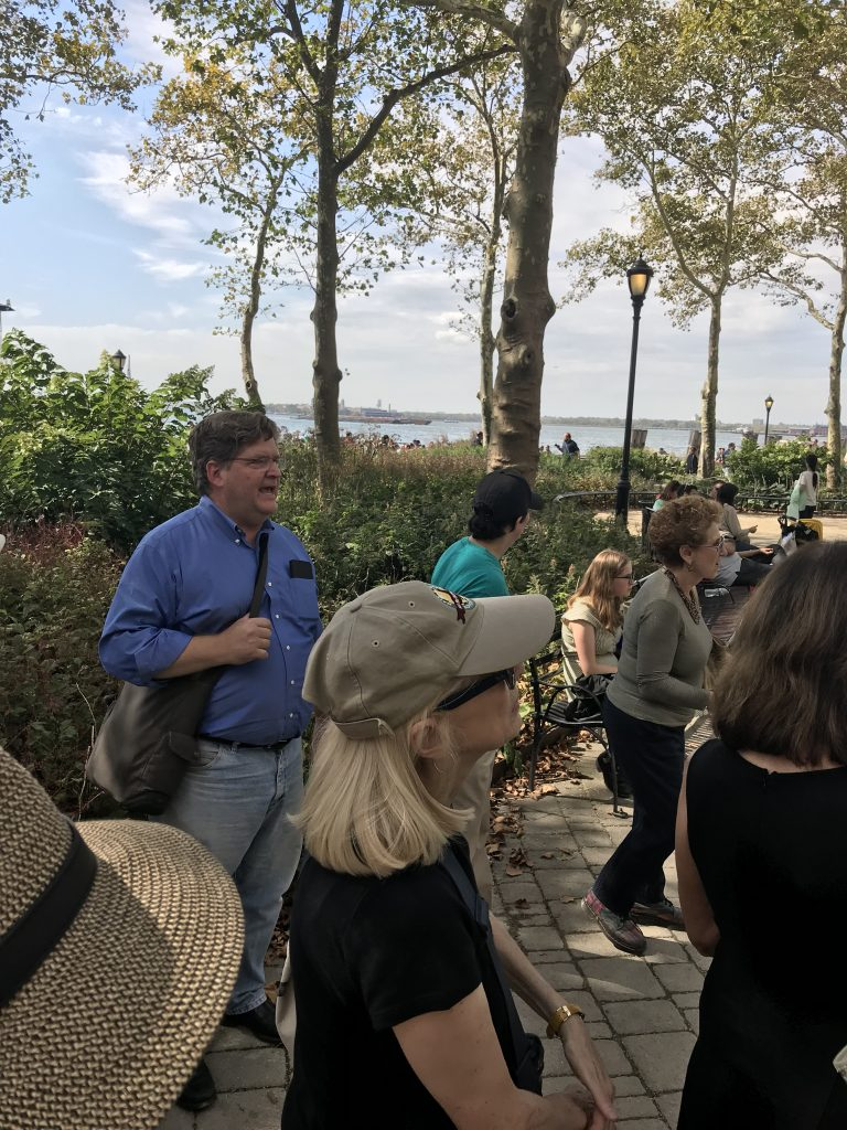 This Archtober, architects, journalists & design fans joined an AIA-sponsored tour of historic Battery Park