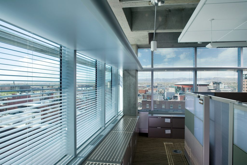 ZGF specified 300 motorized Hunter Douglas blinds with sun-tracking capabilities