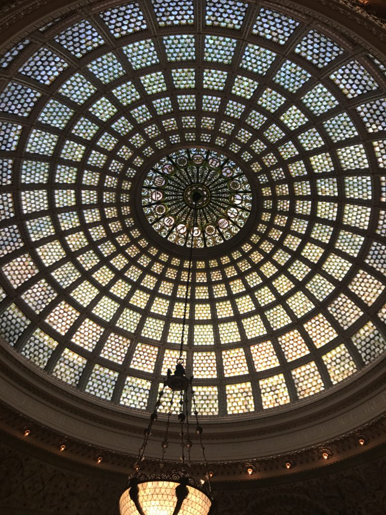 The Chicago Cultural Center's famous mosaic dome
