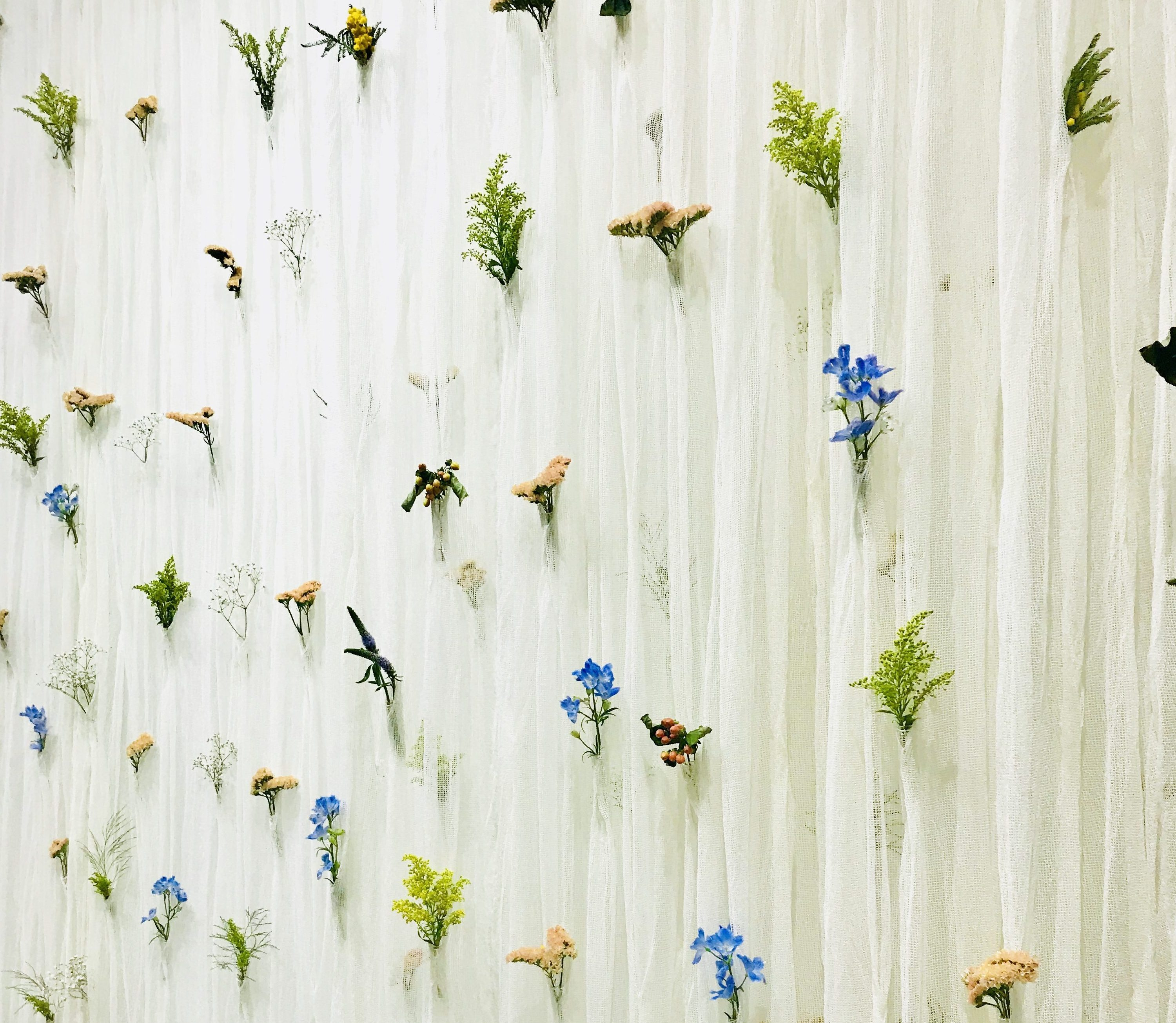 A closer look at the details of Umé Studio's curtains reveals a soft, organic and artful approach applied to a common household item.