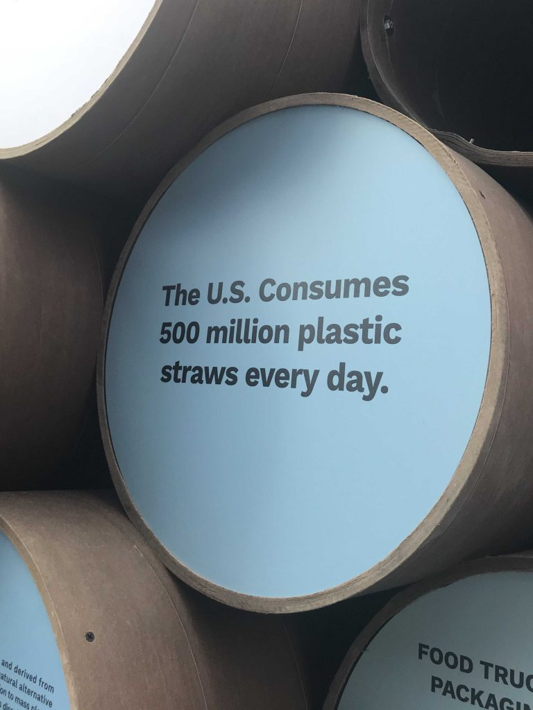 The U.S consumes 500 million plastic straws each day.