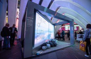 Lumin pixel display partnered with Hunter Douglas