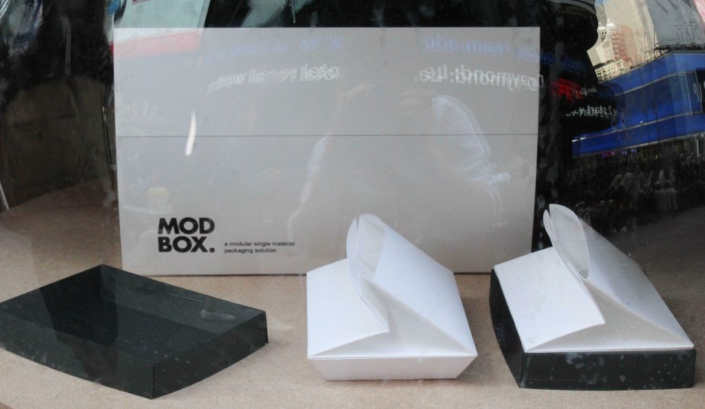 Foldable packaging designed by Pratt Students