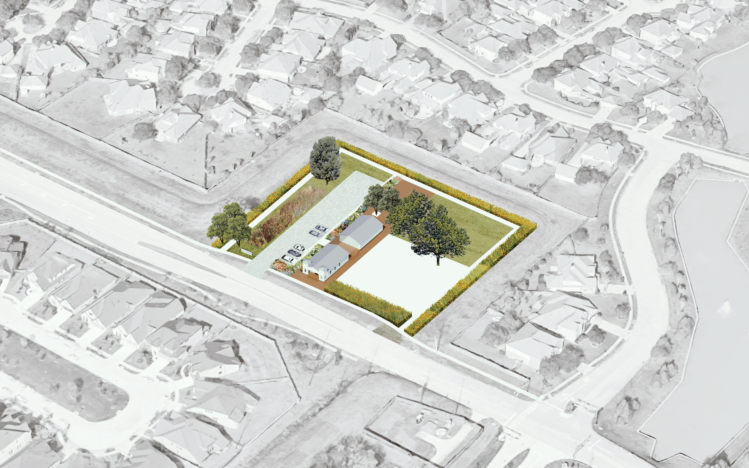 Cadaster | Church Circuit: Architectural and Site Rehabilitation of Saint John Missionary Baptist Church, Houston, USA. By Cadaster