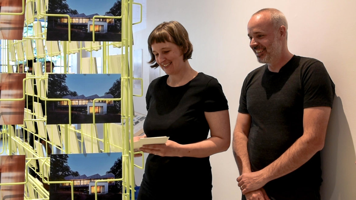 League Prize Winner Explains Themes of Postcard Rack of Design Projects by Firm Coryn Kempster + Julia Jamrozik