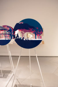 Anya Sirota's installation in the Architectural League Prize exhibit at Parsons School of Design.