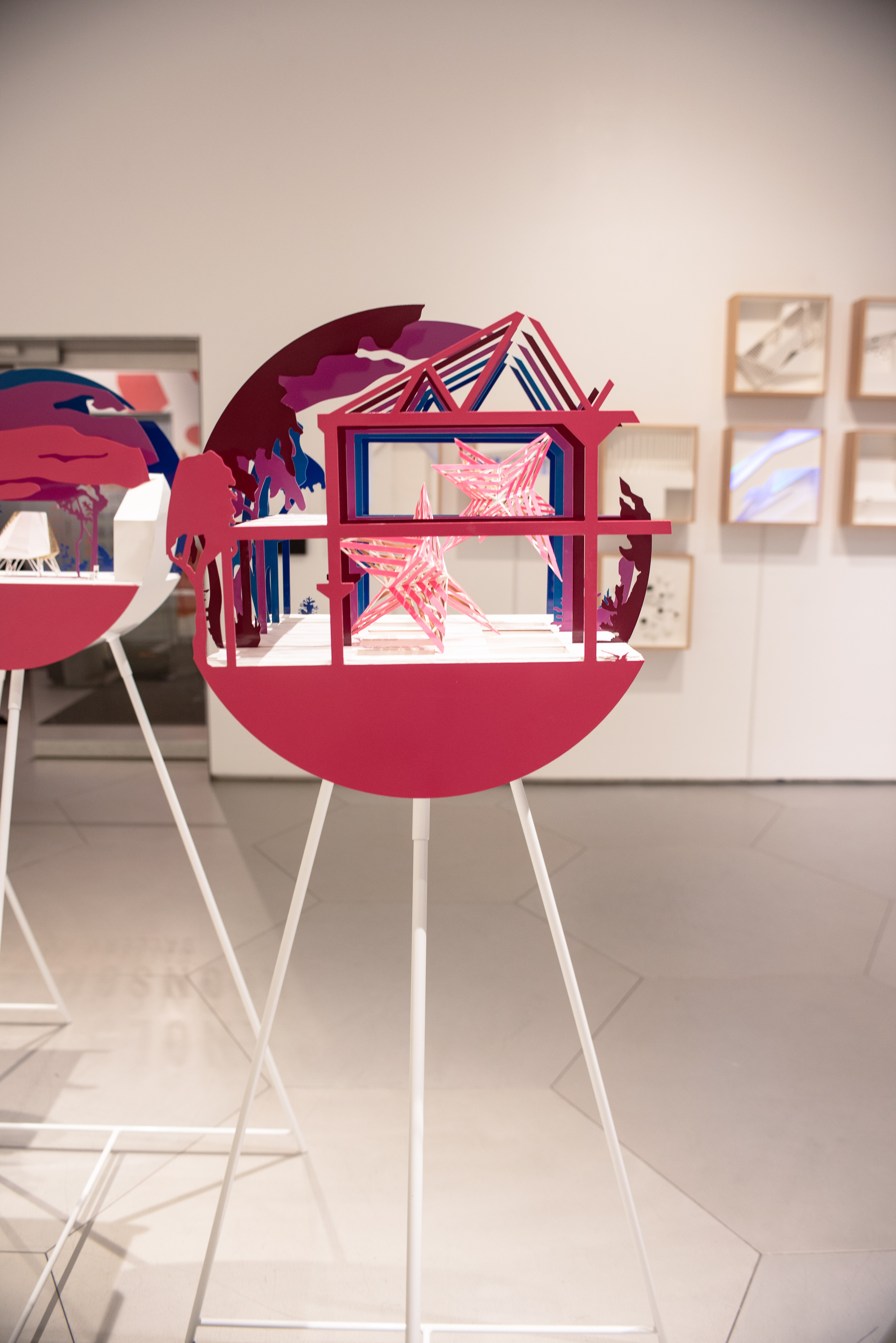 Architectural League Prize winner Anya Sirota's exhibit at Parsons School of Design.