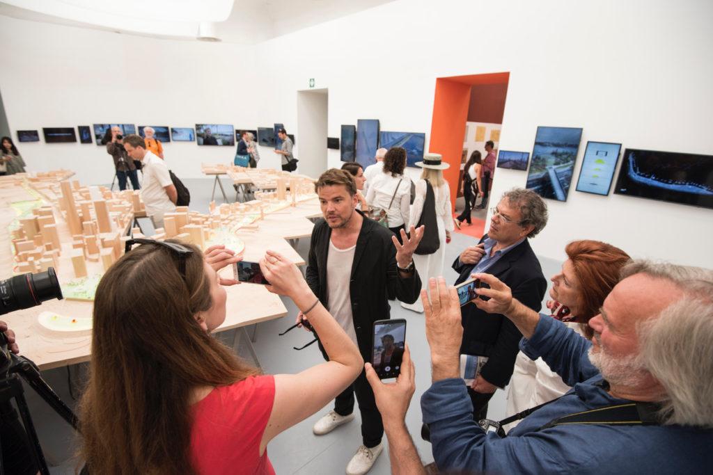 Zoë Zellers interviews architect Bjarke Ingels at the Venice Architecture Biennale. Photo by Alex Fradkin.