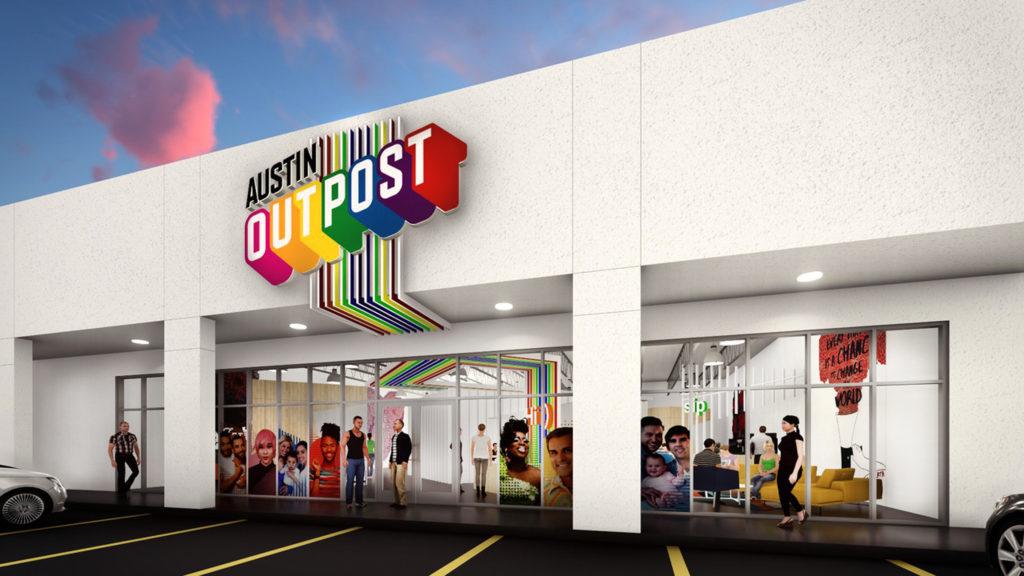 "Austin Outpost winning design ""Dynamic Paths"" by James Garza and Rick Sanchez."
