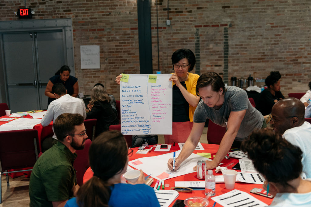Attending the AIA Design Justice Summit in New Orleans. (Photo by Michael Mantese)