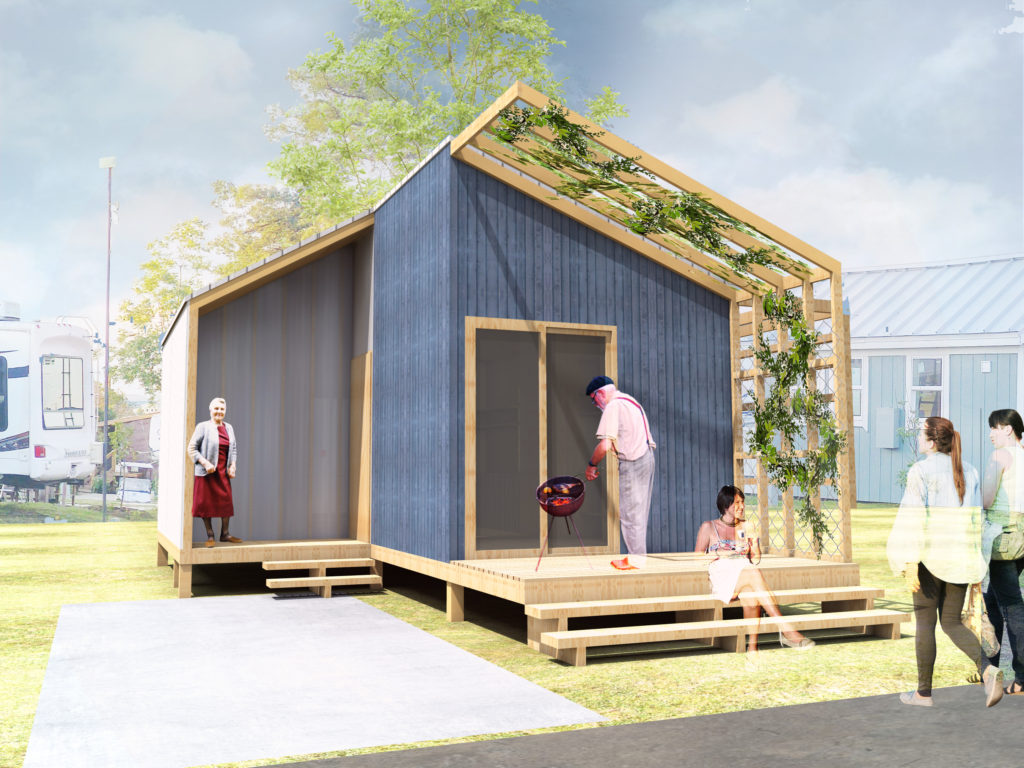 Community First! Village Micro-Home (Rendering by Open Architecture Austin and Audrey Vilain)