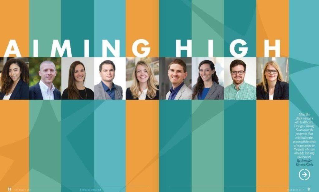 Healthcare Design Magazine's Rising Star Award Winners. Image courtesy of HDC.